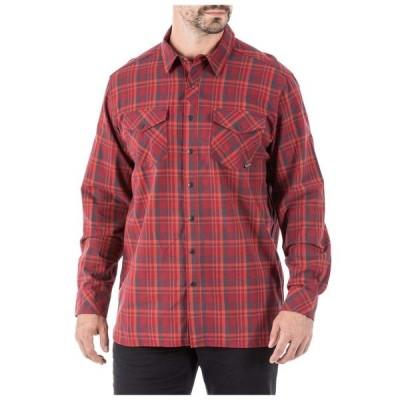 5.11タクティカル シャツ トップス メンズ 5.11 Tactical Men's Peak Long Sleeve Shirt PeacoatPlaid