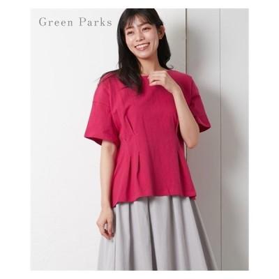 Tシャツ カットソー レディース Green Parks ウエスト タック プルオーバー ニッセン