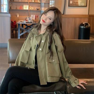 💙大好評につSALE延長💙韓国ファッション 2020 春 秋 新品 トレンチコート 短いスタイル 百掛け コート レトロ 香港風 快適である デザインセンス