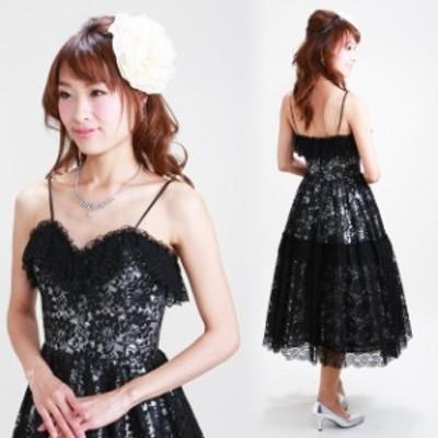 フォーマルドレス レンタル 結婚式 9号 黒 ワンピース g-co1-12 レディースドレス 20代 30代 40代