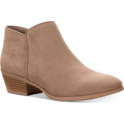 スタイル&コー Style & Co レディース ブーツ ブーティー シューズ・靴 Wileyy Ankle Booties Taupe Micro