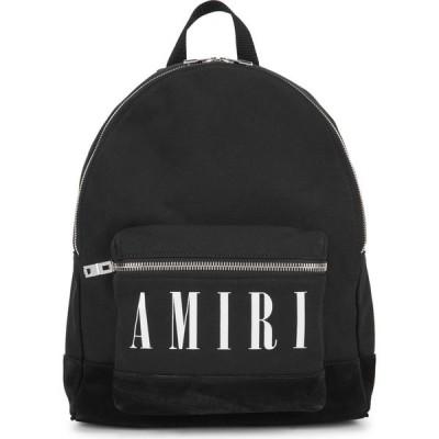 アミリ Amiri メンズ バックパック・リュック バッグ Black Logo Canvas Backpack Black