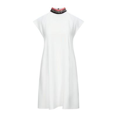 エンポリオ アルマーニ EMPORIO ARMANI ミニワンピース&ドレス ホワイト 42 レーヨン 50% / アセテート 47% / ポリウレ
