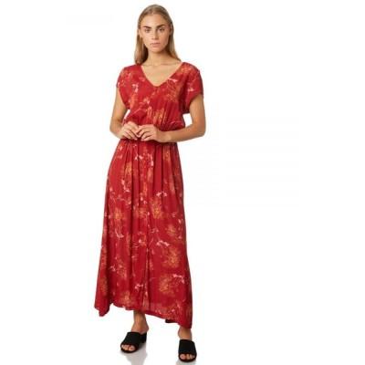 スウェル Swell レディース ワンピース ワンピース・ドレス Botanical Button Through Dress Rose
