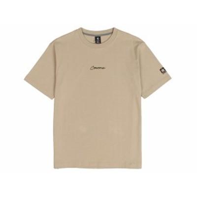コンバース:【メンズ】クルーネック 刺繍 Tシャツ【CONVERSE カジュアル 半袖 シャツ】