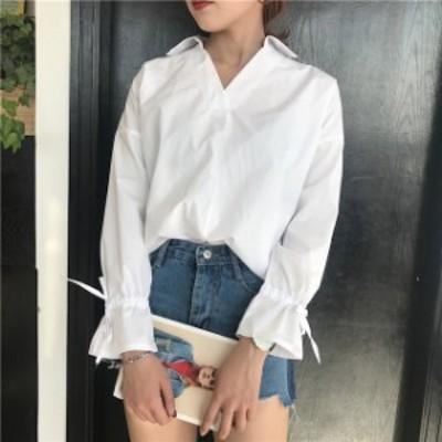 ストライプ柄シャツ ワンポイント袖 夏 涼しい