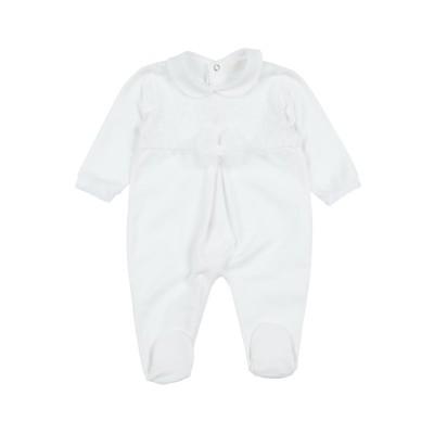 NINNAOH 乳幼児用ロンパース ホワイト 3 コットン 96% / ポリウレタン 4% 乳幼児用ロンパース