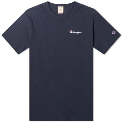 チャンピオン Champion Reverse Weave メンズ Tシャツ ロゴTシャツ トップス Script Back Logo Tee Navy
