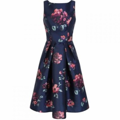 チチ Chi Chi レディース パーティードレス ワンピース・ドレス Floral Printed Midi Dress Navy