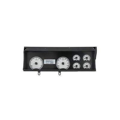 ゲージセット ダッシュパネル ダコタ デジタル 70 71 72 シボレー マリブ アナログ ダッシュ ゲージ シルバー ホワイト VHX-70C-MAL