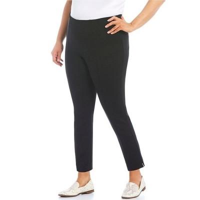 インベストメンツ レディース カジュアルパンツ ボトムス Slim Factor by Investments Plus Size Ponte Knit No-Waist Ankle Pants
