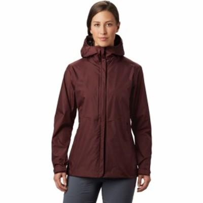 マウンテンハードウェア Mountain Hardwear レディース レインコート アウター Acadia Rain Jacket Washed Raisin