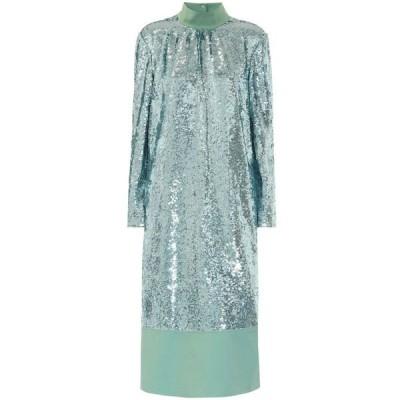 ティビ Tibi レディース ワンピース ミドル丈 ワンピース・ドレス sequined midi dress Celadon