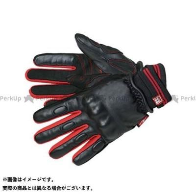【特価品】ラフ&ロード RR8809 CKニットカフウインターレザーグローブ カラー:レッド サイズ:M Rough&Road