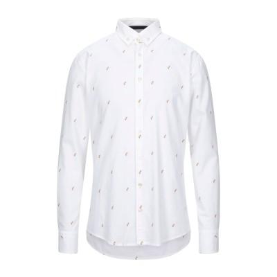 BOSS HUGO BOSS シャツ ホワイト L コットン 100% シャツ