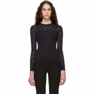 フェンディ Fendi レディース ニット・セーター トップス Navy Forever  Sweater