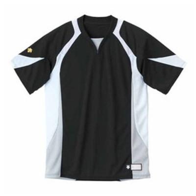 デサント ベースボールシャツ(BKWH・サイズ:XA) DESCENTE BASEBALL SHIRT プロモデル(レギュラーシルエット) DS-DB113-BKWH-XA 【返品種別A】
