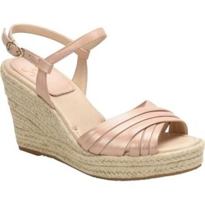 ソフト レディース サンダル シューズ Solani Ankle Strap Wedge Sandal Blush Metallic Leather