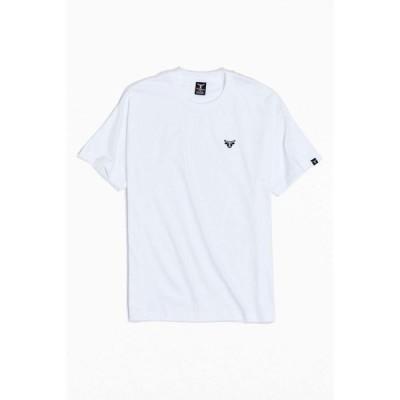 ヘインズ Hanes メンズ Tシャツ ロゴTシャツ トップス Beefy Tee Embroidered Logo Tee White