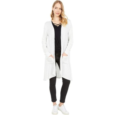 ボボウ Bobeau レディース カーディガン ロングカーディガン トップス Button-Up Long Sleeve Midi Cardigan Heather Grey