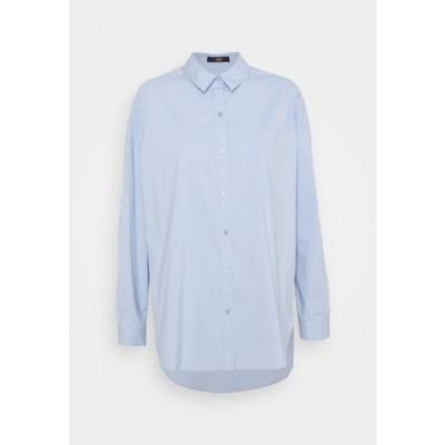 レディース ファッション NADJA BLOUSE - Button-down blouse - sky blue