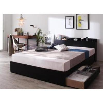 棚・コンセント付き収納ベッド Bscudo ビスクード スタンダードボンネルコイルマットレス付き シングル
