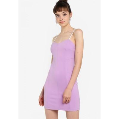 サムシングボロウド Something Borrowed レディース ボディコンドレス ワンピース・ドレス Sweetheart Neck Bodycon Dress Lilac