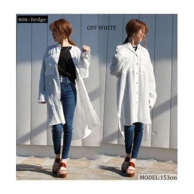 【ティムティム】 バンドカラーシャツチュニック レディース オフホワイト M TiM・TiM