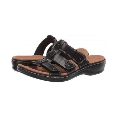 Clarks クラークス レディース 女性用 シューズ 靴 サンダル Leisa Spring - Black Leather