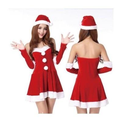 サンタワンピースクリスマス仮装2020コスプレ衣装安いおしゃれコスチューム可愛いサンタクロースレディースワンピースサンタ変装