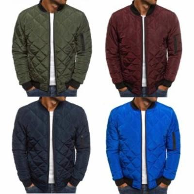 ゆったりジャケット メンズ 撥水 防風 透湿 デザインキルティング ライトダウン 防寒 綿入れの服