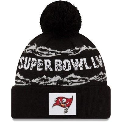 NFL ニットキャップ ニット帽 バッカニアーズ 第55回スーパーボウル記念 ニューエラ/New Era ブラック Cuffed Knit Hat Pom SB55