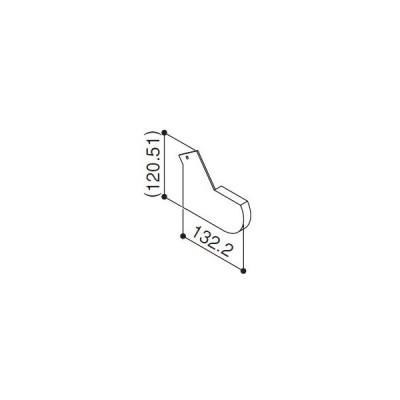 YKKAP交換用部品 前枠端部キャップ(HH-K-37458)