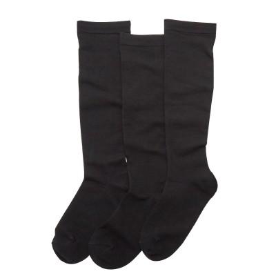 【消臭】無地黒ハイソックス3足組 女の子(19~21cm) キッズ靴下, Kid's Socks