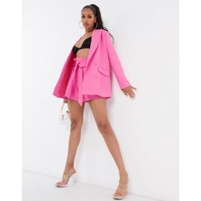 フォース&レックレス 4th + Reckless レディース スーツ・ジャケット アウター oversized blazer co ord in pink ピンク