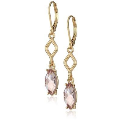 Anne Klein Gold Tone Blush Stone Drop Earrings