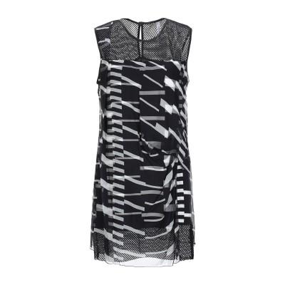 ピアヌラストゥーディ�� PIANURASTUDIO ミニワンピース&ドレス ブラック 40 シルク 100% / レーヨン / ポリウレタン /