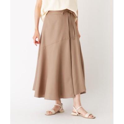 【オペークドットクリップ】 イレギュラーヘム ラップデザインスカート レディース サンドベージュ 36(S) OPAQUE.CLIP