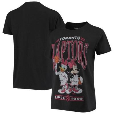ジャンクフード レディース Tシャツ トップス Toronto Raptors Junk Food Women's Minnie & Daisy T-Shirt