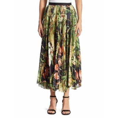 アダム リッペス レディース スカート Pleated Printed Skirt