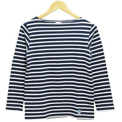 【5月11日値下】ORCIVAL ボーダーバスクシャツ ホワイト×ネイビー サイズ:1 (阿佐ヶ谷店)