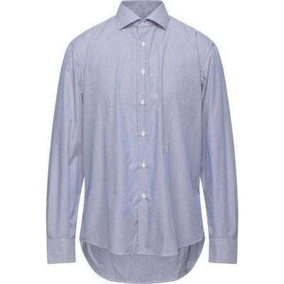 トラサルディ TRU TRUSSARDI メンズ シャツ トップス striped shirt Blue