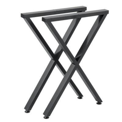 71CMテーブルレッグコーヒーダイニングテーブルレッグスチールベンチメタルインダストリアルX字型