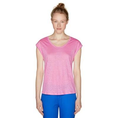 (BENETTON (women)/ベネトン レディース)リネンラウンドネックフレンチスリーブ半袖Tシャツ・カットソー/レディース ピンク