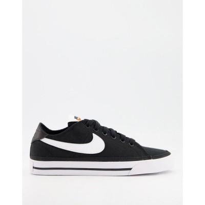 ナイキ レディース スニーカー シューズ Nike Court Legacy Canvas sneakers in black Summit white