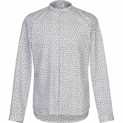 ベルナ BERNA メンズ シャツ トップス patterned shirt White