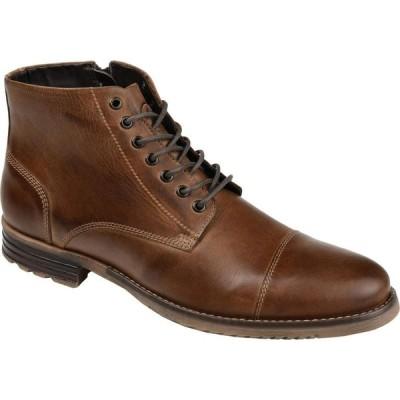 トーマスアンドバイン Thomas & Vine メンズ ブーツ ショートブーツ シューズ・靴 Barton Cap Toe Ankle Boot Brown