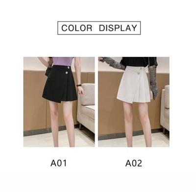 ミニスカートハイウエストプリーツスカートAラインレディースファッションカジュアルおしゃれシンプル細身無地