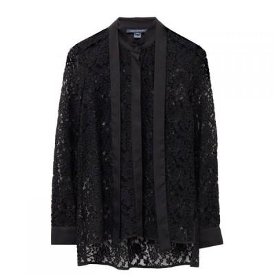 フレンチコネクション French Connection レディース ブラウス・シャツ トップス Baen Floral Lace Tie Neck Blouse Black