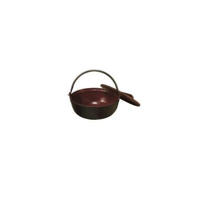 中部コーポレーション トキワ 鉄 やまが鍋 401(茶ホーロー) 18cm(段無・杓子付)【 いろり鍋 いろり 囲炉裏鍋 やまと鍋 やまが鍋 田舎鍋 味噌汁 】